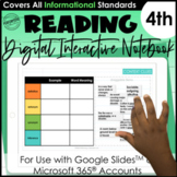 Digital Interactive Notebook for 4th Grade   Mentor Text R