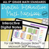 Digital Interactive Notebook for 5th Grade Math | Entire Y
