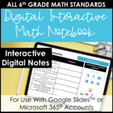 Digital Interactive Notebook for 6th Grade Math | Entire Y