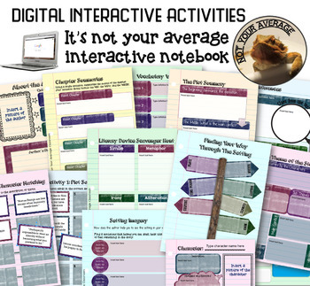 Digital Interactive Notebook for Any High School Novel 8th-12th grade
