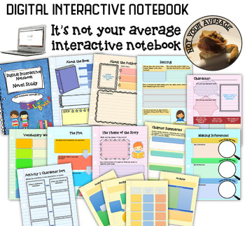 NEW Digital Interactive Notebook for Any Novel Study 4th 5th Grade