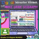 Digital Interactive Notebook for Middle Grade Geography (D