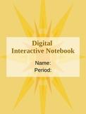 Digital Interactive Notebook on Powerpoint