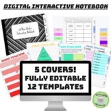 Digital Interactive Notebook with Drag and Drop Templates
