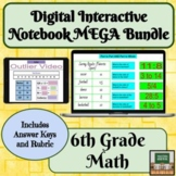 Digital Interactive Notebook Math- 6th Grade- Distance Lea