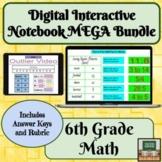 Digital Interactive Notebook Math- 6th Grade- Distance Lea