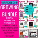 Digital Interactive Notebooks, Science & Social Studies Topics: Growing Bundle