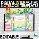 Digital Interactive Notebooks Templates EDITABLE Bundle |