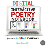 Digital and Printable Interactive Poetry Notebook for Google Slides