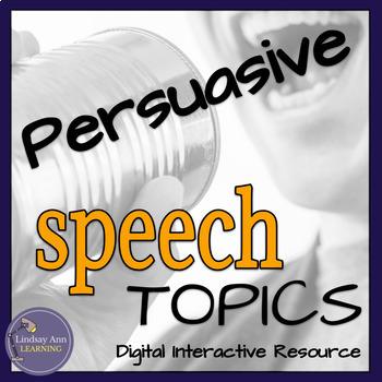 Persuasive Speech Activity, Topics for Impromptu Speaking
