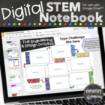 Digital Interactive STEM Notebook for Engineering and Design Challenges