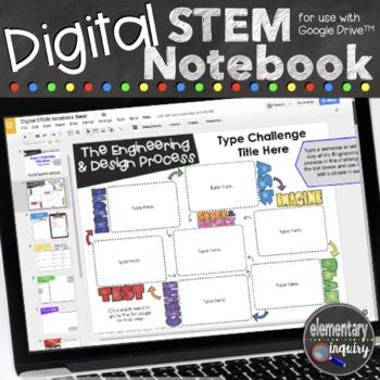Digital Interactive STEM Notebook for Engineering & Design Challenges