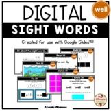 Digital Interactive Sight Word Activities (Google Slides™)