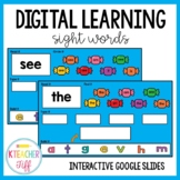 Digital Interactive Sight Word Slides- Distance Learning