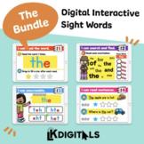 Digital Interactive Sight Words - Growing Bundle | Distanc
