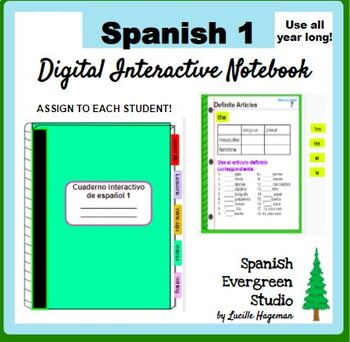 Digital Interactive Notebook Spanish 1