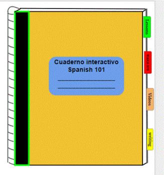 Digital Interactive Spanish 101 Notebook