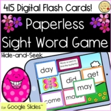 Digital Interactive Spring Sight Word Game   Paperless   Google Slides