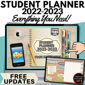 Back to School: Interactive Student Planner/Organizer/Tracker: ALL IN ONE!