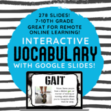 Digital Google Slides Interactive Vocabulary Lessons for a