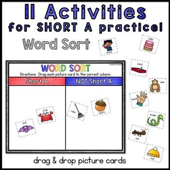 Digital Interactive Word Work: Short A