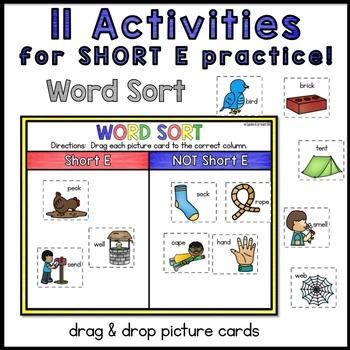 Digital Interactive Word Work: Short E