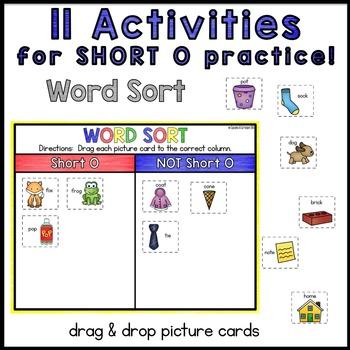 Digital Interactive Word Work: Short O