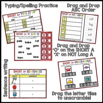 Digital Interactive Word Work: Short Vowel BUNDLE