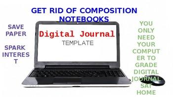 Digital Interactive Writing Journal Template