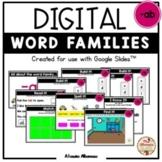 "Digital Interactive - ""ab""- Word Family Activities (Google"
