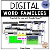 "Digital Interactive - ""ap""- Word Family Activities (Google"