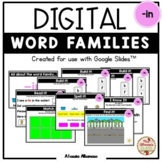 """Digital Interactive - """"in""""- Word Family Activities (Google"""