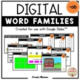 "Digital Interactive - ""ob""- Word Family Activities (Google"