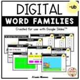 "Digital Interactive - ""ub""- Word Family Activities (Google"