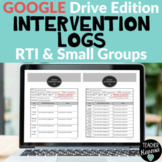 Digital Intervention Logs for RtI Distance Learning Google Drive