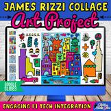 Digital James Rizzi Cityscape Art Project & Artist Biography on Google Slides