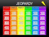 Digital Jeopardy Template: Just Edit to Create Your Own Je