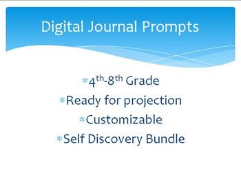 Digital Journal Prompts- 1 Month