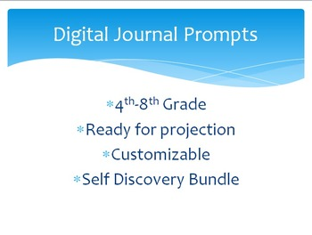 Digital Journal Prompts- 1 Month