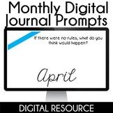 Digital Journal Prompts in Google Slides- April