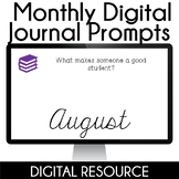 Digital Journal Prompts in Google Slides- August