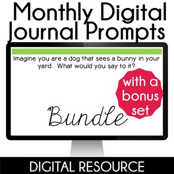 Daily Digital Writing Prompts in Google Slides Distance Learning- Bundle