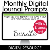 Daily Digital Writing Prompts in Google Slides Distance Le
