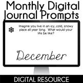 Digital Journal Prompts in Google Slides- December