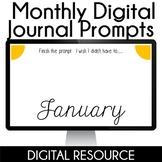 Digital Journal Prompts in Google Slides- January