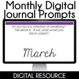 Digital Journal Prompts in Google Slides- March