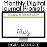 Digital Journal Prompts in Google Slides- May