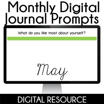 Digital Journal Prompts in Google Slides- May