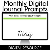 Digital Journal Prompts in Google Slides Distance Learning- May