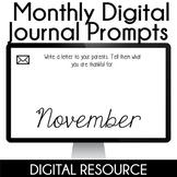 Digital Journal Prompts in Google Slides- November